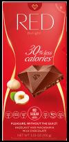 RED - milk chocolate hazelnut & macadamia