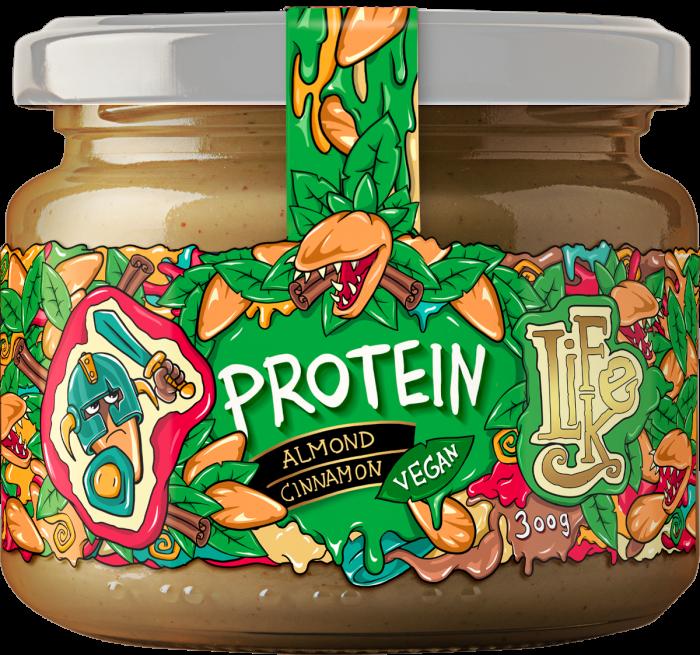 Lifelike - Proteínový mandľovovo škoricový krém - 300g