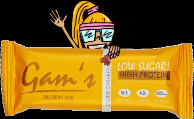 Gam´s proteínová tyčinka s kolagénom - slaný karamel 55g